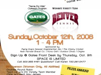 Tennis Fundraiser Flyer